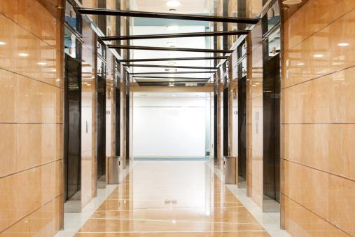 Development「Elevator hallway in the office building」:スマホ壁紙(15)