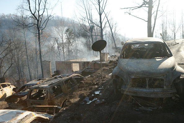 Tennessee「Wildfires Rage Through Tennessee Resort Town Of Gatlinburg」:写真・画像(1)[壁紙.com]