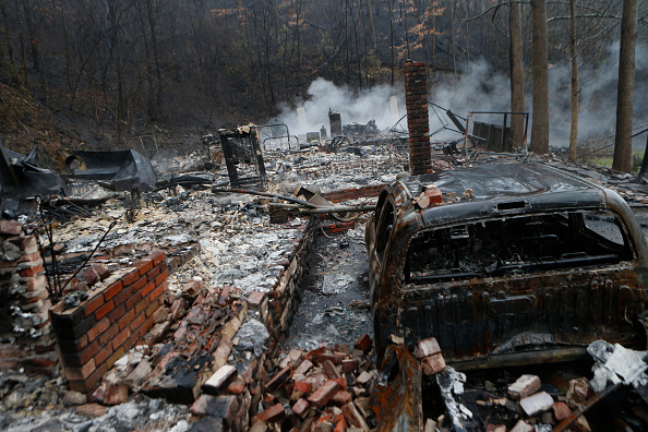 Tennessee「Wildfires Rage Through Tennessee Resort Town Of Gatlinburg」:写真・画像(6)[壁紙.com]