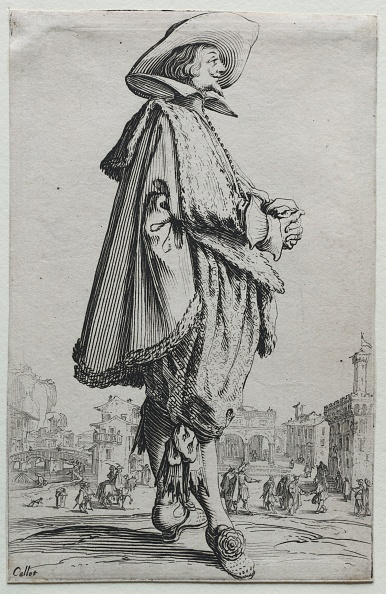 Etching「Gentleman Standing In Profile With Clasped Hands. Creator: Jacques Callot (French」:写真・画像(3)[壁紙.com]