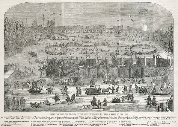 Thames River「Frost Fair On The Thames In The Reign Of Charles Ii,」:写真・画像(15)[壁紙.com]