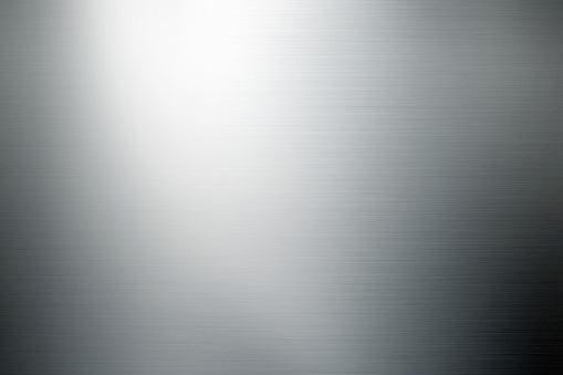 Silver Colored「shiny brushed metal background」:スマホ壁紙(2)