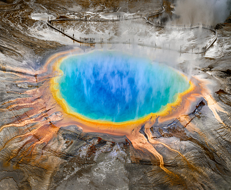 Turquoise Colored「Grand Prismatic Spring, Midway Geyser, Yellowstone」:スマホ壁紙(10)