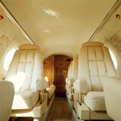 Passenger Cabin「Private jet aircraft interior」:スマホ壁紙(5)