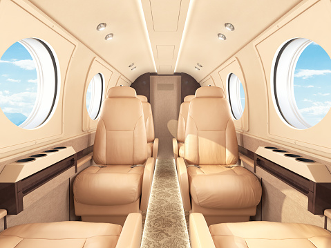 Commercial Airplane「Private Jet Interior」:スマホ壁紙(8)