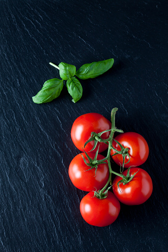Tomato「Vine tomatoes and basil」:スマホ壁紙(8)