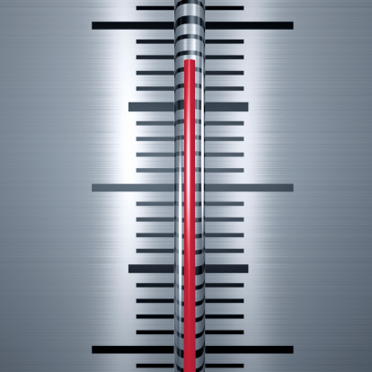 Gray Background「Silver Thermometer with red liquid Close-up」:スマホ壁紙(5)