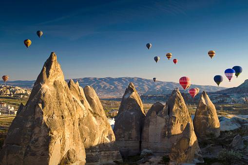 気球「Hot air balloons, Cappadocia, Turkey」:スマホ壁紙(19)