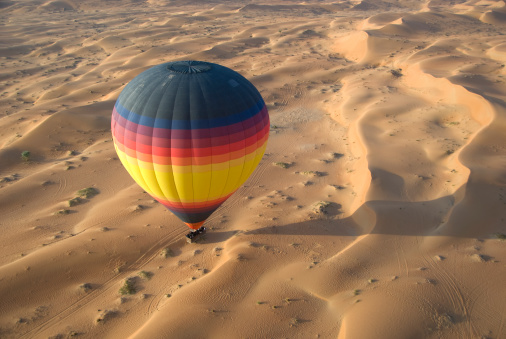 Hot Air Balloon「Hot Air Balloon in Desert」:スマホ壁紙(12)