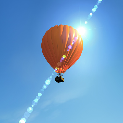 Freedom「hot air ballon flying in the sky」:スマホ壁紙(3)
