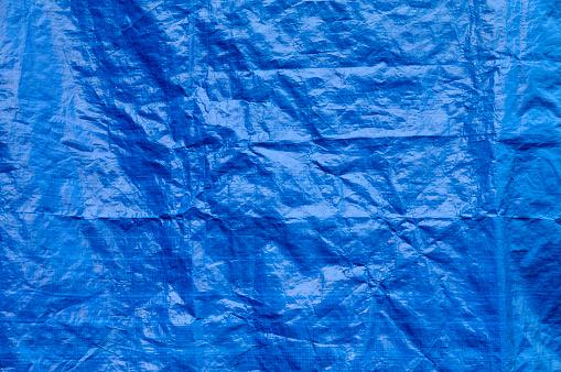 Canvas Fabric「Wrinkled blue tarp texture full frame background」:スマホ壁紙(12)