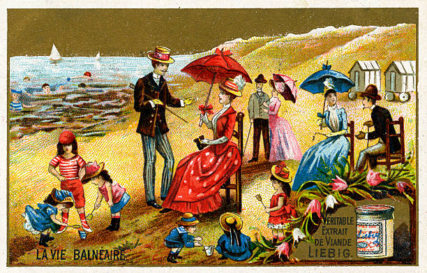A day at the seaside in France late 19th century:ニュース(壁紙.com)