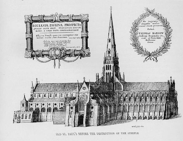 16世紀のスタイル「Old St Paul's Cathedral before the destruction of the steeple, 1657 (1904)」:写真・画像(16)[壁紙.com]