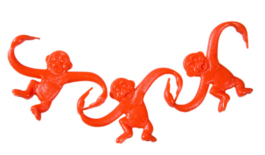1990-1999「Interlocking monkey toys」:スマホ壁紙(4)