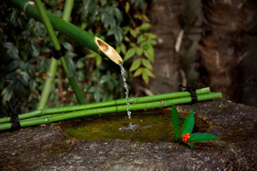 Wabi Sabi「Water basin in a garden」:スマホ壁紙(14)