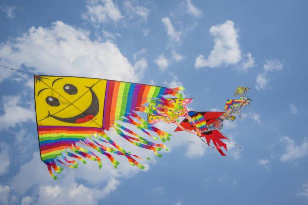 A kite in the sky:スマホ壁紙(壁紙.com)