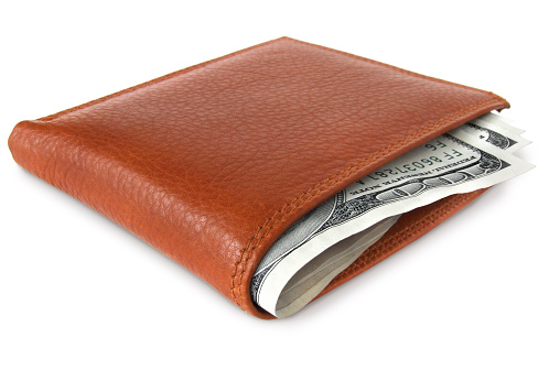 American One Hundred Dollar Bill「Wallet with Money」:スマホ壁紙(3)