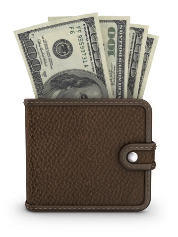 Clip Art「wallet with dollars」:スマホ壁紙(12)