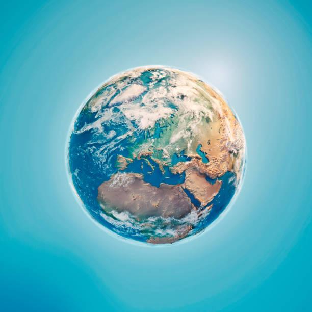 Europe 3D Render Planet Earth Clouds:スマホ壁紙(壁紙.com)