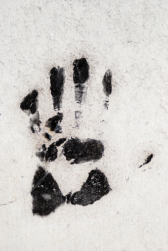 Palm of Hand「Handprint on wall」:スマホ壁紙(6)