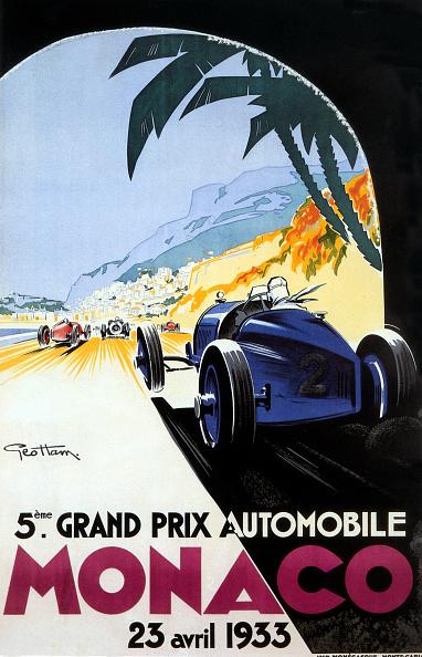 Grand Prix Motor Racing「Poster by Geo Ham for Grand prix in Monaco 1933」:写真・画像(1)[壁紙.com]