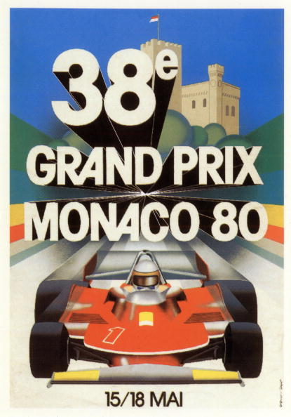 モータースポーツ「Poster by Grognet for the 38th Grand Prix of Monaco, 1980, postcard」:写真・画像(18)[壁紙.com]