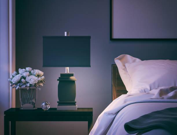 モダンなベッドルームのクローズアップ:スマホ壁紙(壁紙.com)