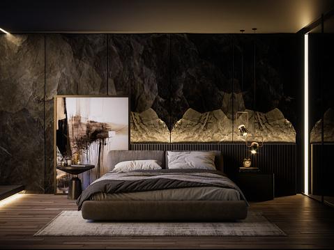 Bed - Furniture「Modern Bedroom Interior」:スマホ壁紙(6)