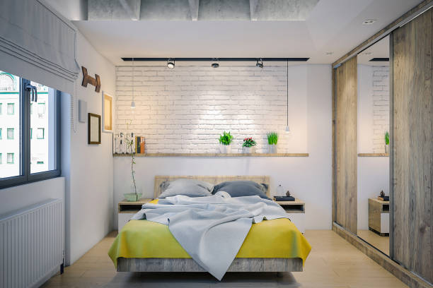 Modern bedroom:スマホ壁紙(壁紙.com)