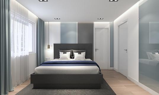 Bed - Furniture「Modern Bedroom」:スマホ壁紙(8)