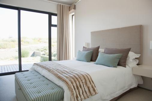 Bed - Furniture「Modern bedroom」:スマホ壁紙(2)