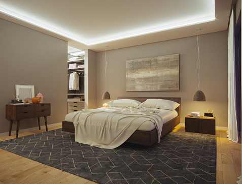 Art「Modern Bedroom」:スマホ壁紙(13)