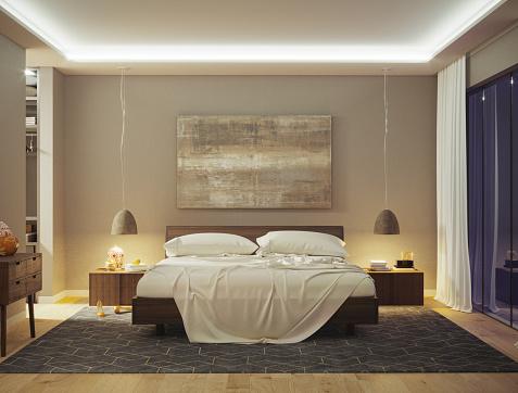 Art「Modern Bedroom」:スマホ壁紙(2)
