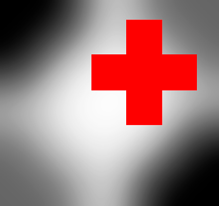 Refugee「Red Cross on blurred greyish background.」:スマホ壁紙(8)
