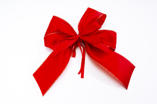 Tied Knot「Red bow, close-up」:スマホ壁紙(8)