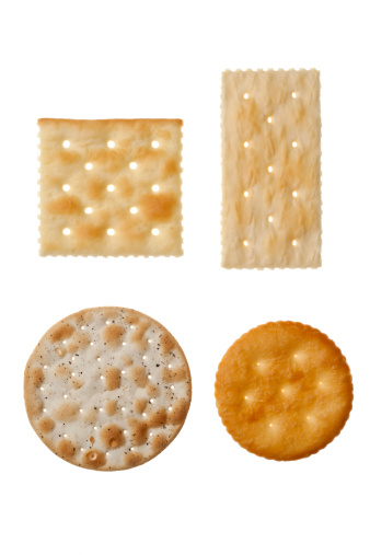 Rectangle「Four different crackers in white background」:スマホ壁紙(15)