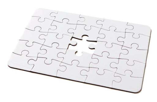 Lost「The missing link: incomplete all-white jigsaw puzzle on white」:スマホ壁紙(3)