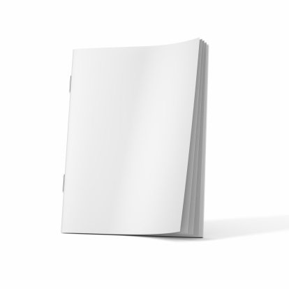Diary「A blank magazine book on a white background」:スマホ壁紙(14)