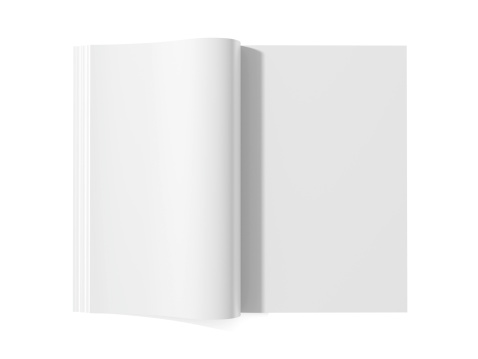 Report - Document「Blank magazine book for white pages」:スマホ壁紙(1)