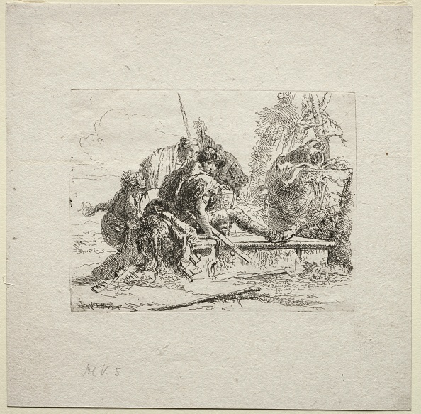 Etching「Various Caprices: The Two Soldiers And The Two Women」:写真・画像(19)[壁紙.com]