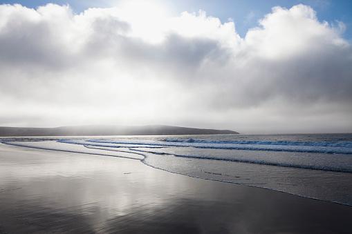 太陽の光「ocean and sky, Point Reyes, CA」:スマホ壁紙(14)