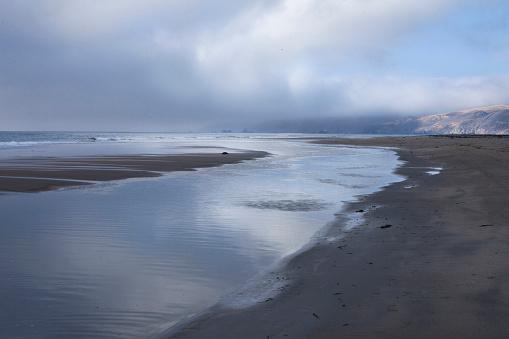 太陽の光「ocean and sky, Point Reyes, CA」:スマホ壁紙(13)