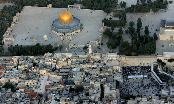 Place of Worship「Aerial Views Of Jerusalem?s Old City」:写真・画像(1)[壁紙.com]