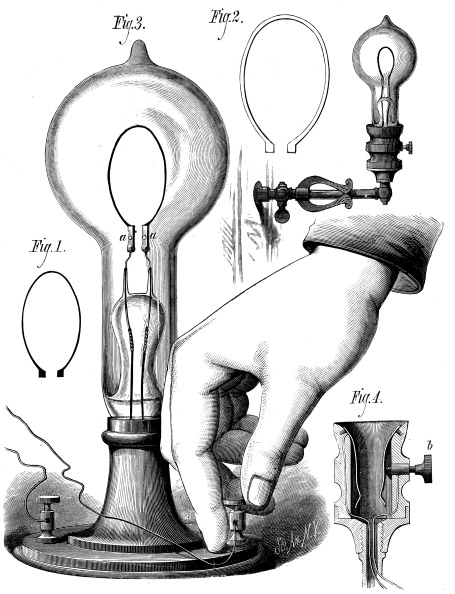 Light Bulb「Edison's carbon filament lamp, 1880.」:写真・画像(10)[壁紙.com]