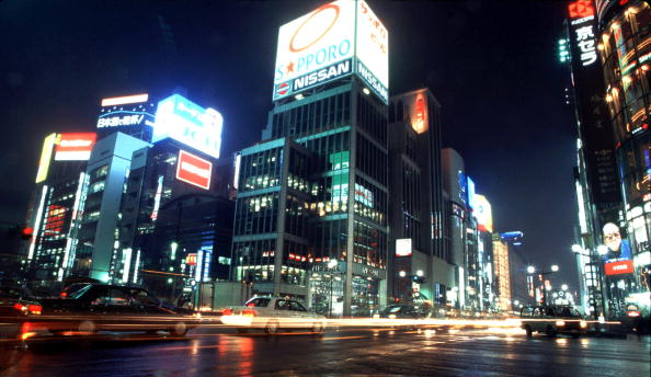 Ginza「Neon Lights On The Ginza In Tokyo Japan」:写真・画像(14)[壁紙.com]