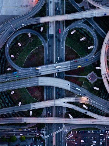 Elevated Road「highway of Los Angeles」:スマホ壁紙(2)