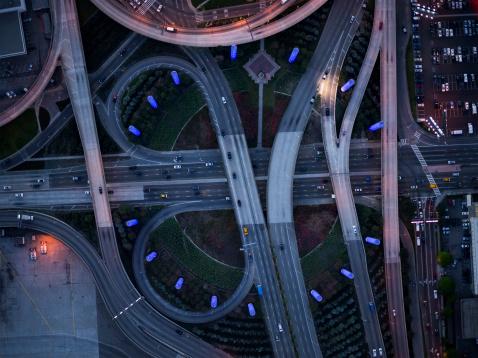 Elevated Road「highway of Los Angeles」:スマホ壁紙(7)