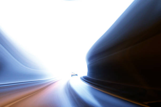 Blur dream drive - end of the tunnel:スマホ壁紙(壁紙.com)