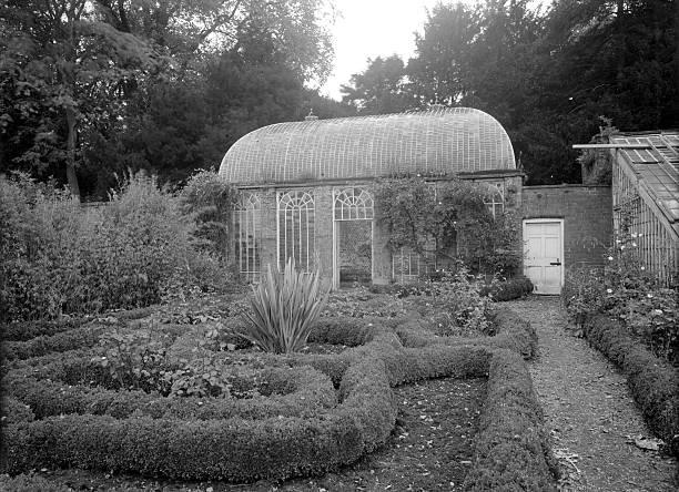 The orangery in the gardens at Howsham Hall, North Yorkshire, 1953. Artist: Herbert Felton:ニュース(壁紙.com)