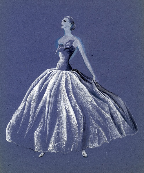 Painted Image「Woman In Strapless Ballgown」:写真・画像(0)[壁紙.com]